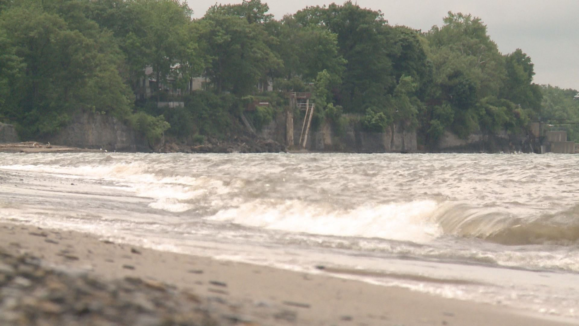 lake erie levels hit two