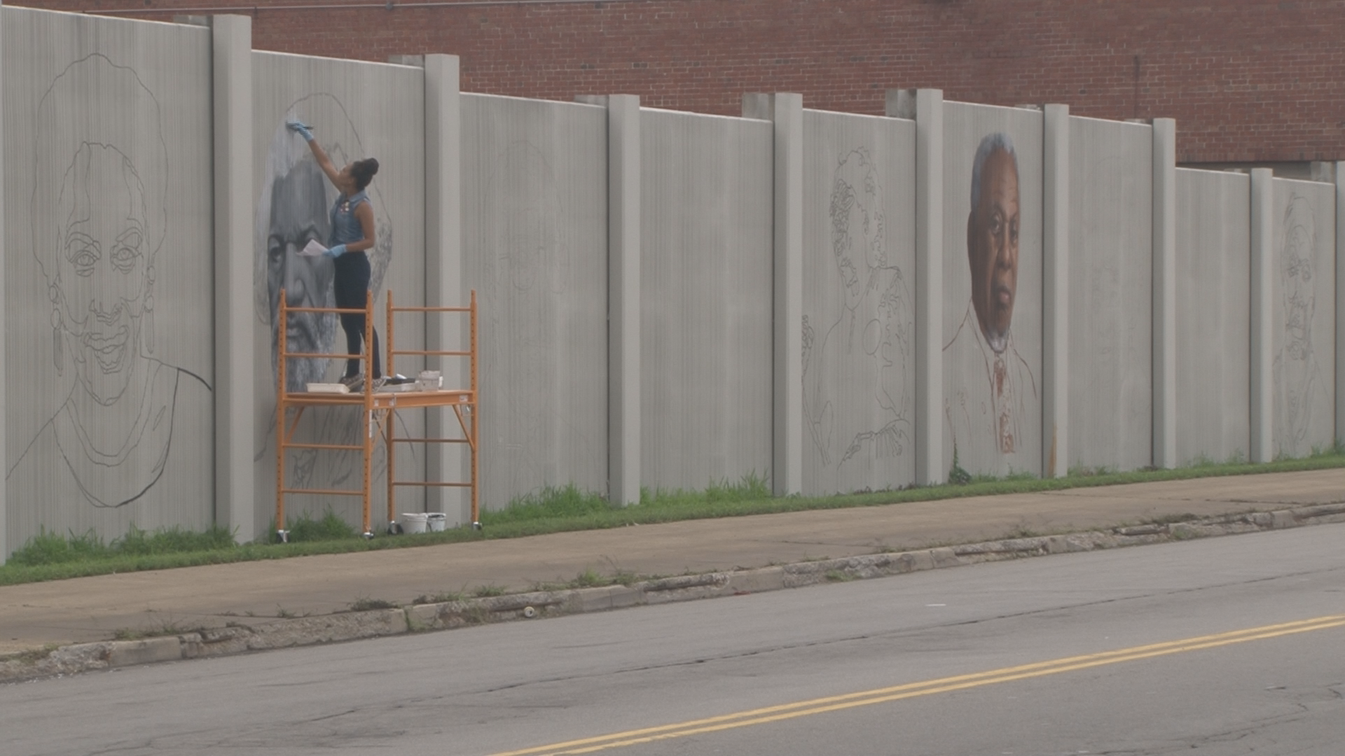 Freedom Wall: local artists add color to
